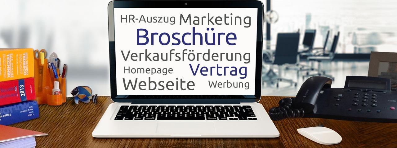 Unternehmen Marketing Fachübersetzung Bettina Chegini